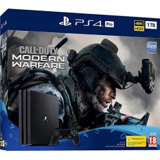 PlayStation 4 Pro Bundle (1 Tb, черный, Call of Duty Modern Warfare 2019), 222330, Консоли